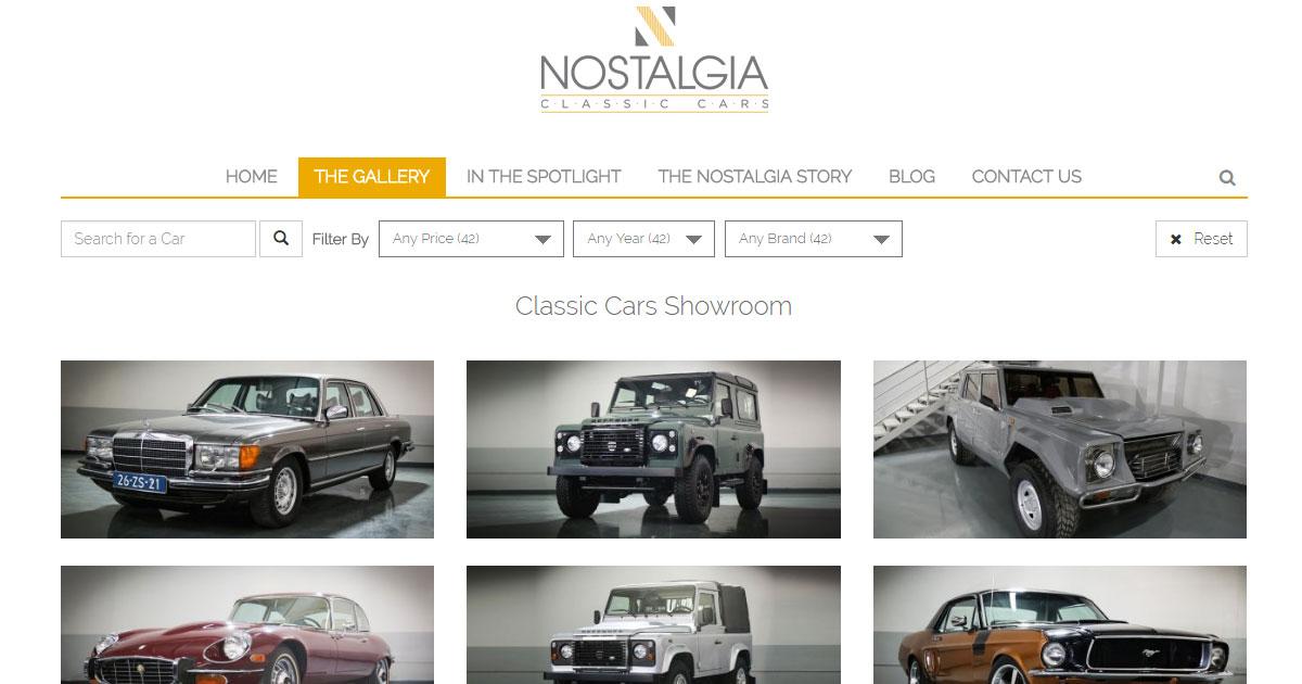 Nostalgia Classic Cars in Dubai UAE