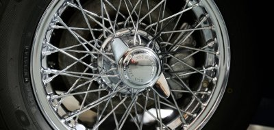Austin-Healey 3000 MK II wheel closeup view
