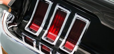 Ford Mustang 1967 taillight closeup view