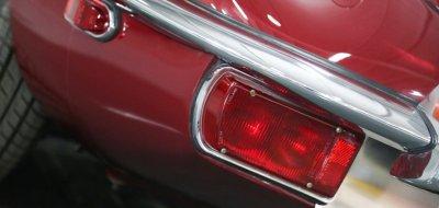 Jaguar E-Type 1972 rear closeup view