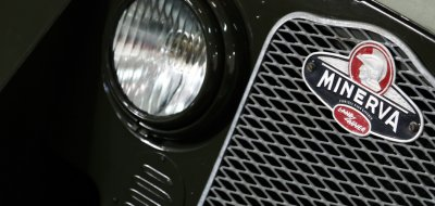 Land Rover Defender Minerva 1952 headlight