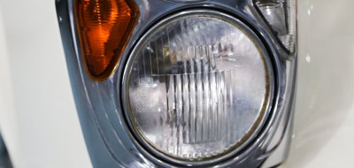 Mercedes Benz 220SE 1961 headlight closeup