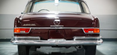 The back of the Mercedes Benz 220SE 1964