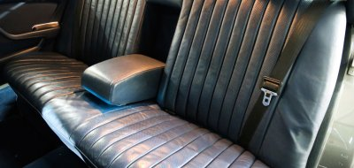 Leather back seat of the Mercedes Benz 450 SEL 6.9 1976