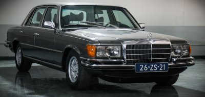 Side view of Mercedes Benz 450 SEL 6.9 1976