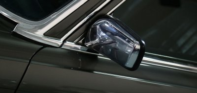 Driver mirror of the Mercedes Benz 450 SEL 6.9 1976