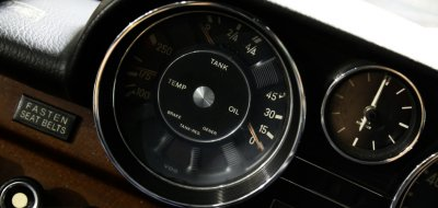 Mercedes Benz 280SEL 1972 clock and gauges