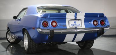Plymouth Barracuda 1973 rear left view