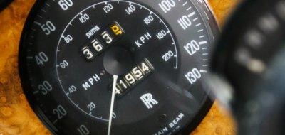 Rolls Royce Corniche 1973 speedometer