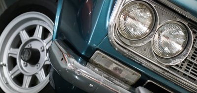Toyota Corona headlight and wheel