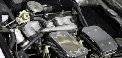 Triumph TR4 under the hood