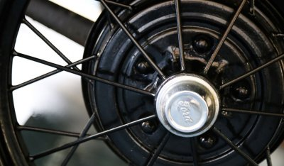 Ford Model A 1929 wheel closeup view
