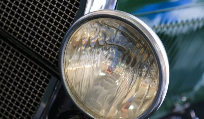 Ford Model A 1929 headlight closeup