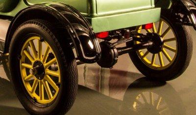Ford Model T 1923 rear left closeup view