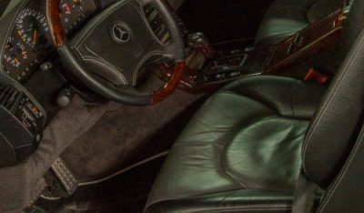 Close up interior of the Mercedes Benz SL600 1998