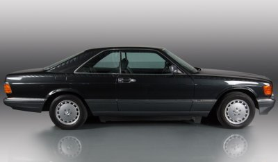 Mercedes Benz SEC560 1991 side view - passenger's side