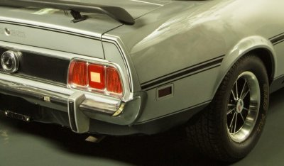 "Ford Mustang ""Boss"" 1973 rear closeup view"