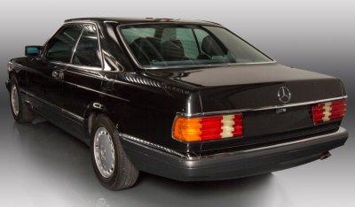 Mercedes Benz SEC560 1991 rear left view