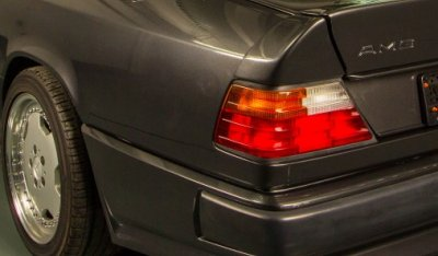 Rear left closeup view of the Mercedes Benz 3,4 AMG CE300 1991