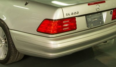Close up of the Mercedes Benz SL600 1998 rear view