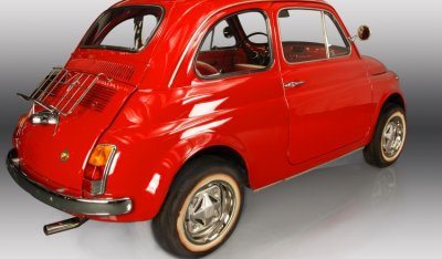 Fiat 500 1971 rear right view