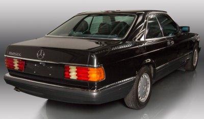 Mercedes Benz SEC560 1991 rear right view