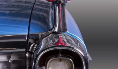 Cadillac De Ville 1959 headlight closeup view