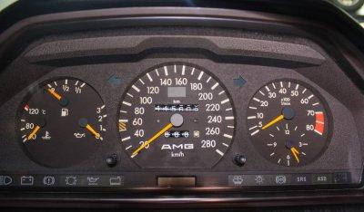 Gauges of Mercedes Benz 3,4 AMG CE300 1991