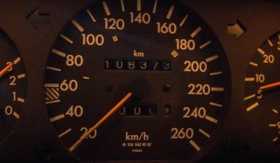 Mercedes Benz E500 1994 speedometer