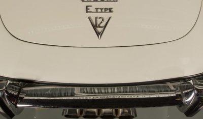 Jaguar E-Type 1971 rear closeup view - V12!